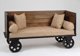 canapé sur roulettes l industriel revisité par amadeus cadès meubles et décoration