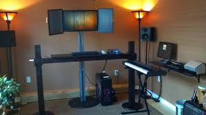 work play music standing homemade zen battlestation