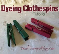 how to dye clothespins with rit dye tutorial crafts pinterest
