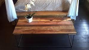 barn wood coffee table industrial furniture modern reclaimed