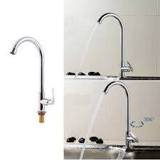 online get cheap copper faucet kitchen aliexpress com alibaba group single handle single hole 360 degree rotating kitchen faucet copper chrome swivel home kitchen bathroom hardware