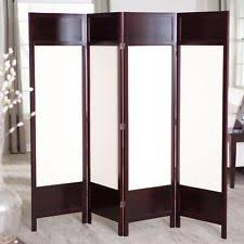 4 panel wood blinds partition room divider wall slat screen