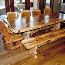 Log Dining Room Table Stunning Log Dining Room Sets Images Liltigertoo