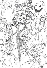 the nightmare before coloring page the nightmare