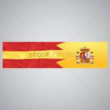 Spanish Flag Spain Flag Banner Vector Image 1565108 Stockunlimited