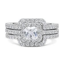 hudson wedding band dtla princess cut center cz sterling silver