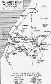 Ww1 Map Summary Of The Strategy And Tactics Of The Egyptian And Palestine