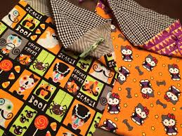 halloween treat bags u2026 lined fabric bags with a drawstring top