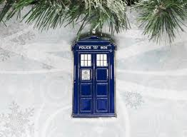 box on key ornament inspired by doctor who