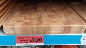 rubberwood butcher u0027s block was 16 now 7 20 sainsbury u0027s