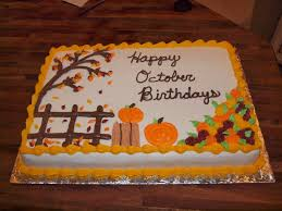 birthday cake halloween fall birthday sheet cakes u2026 pinteres u2026