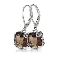 smoky quartz earrings quartz earrings in sterling silver