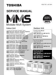 toshiba vrf mms service manual air conditioning hvac