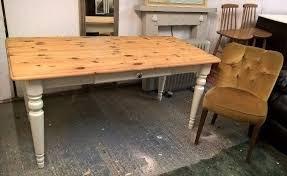 Solid Pine Farmhouse Kitchen Table FREE DELIVERY Cutlery Drawer - Farmhouse kitchen table with drawers