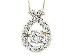 love drop necklace images 14ky diamond rhythm of love pendant 1 10 ctw rol1008y pendants jpg