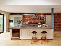 kitchen brick backsplash stunning kitchens with brick backsplash for pleasant atmosphere