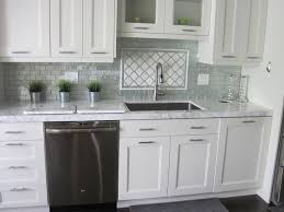 Marble Tile Kitchen Backsplash Pleasing Marble Tiles For Kitchen With Marble Subway Tile Kitchen
