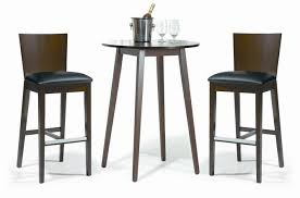 walnut breakfast bar table funiture modern bar table sets style with round tall chrome