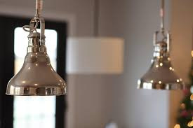 home lighting design example polished stainless steel drum light pendant brushed nickel