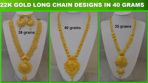 long locket pendant necklace images 22 carat gold long chain designs in 40 grams jpg