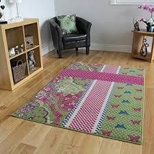 amazon com girls green pink blue u0026 cream shabby chic area rug