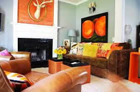 Orange Living Room Decor Orange And Black Interiors Living Rooms Bedrooms And Kitchens