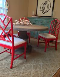 ballard design chairs christmas lights decoration red bamboo chair two