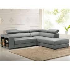 vente unique canap d angle vente unique canapé d angle cuir leeds gris angle droit 250cm