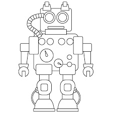 robot coloring pages free funycoloring