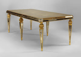 mirrored dining room table convid