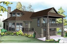home design front sloping lot house plans best duplex ideas on