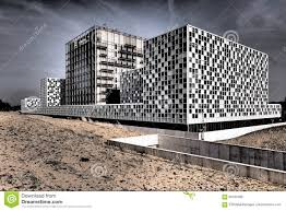 international criminal court in dramatic colors editorial stock