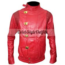 hooded motorcycle jacket akira kaneda pill red biker cosplay costume jacket for sale