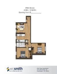 2 bedroom apartments dc 2 bedroom 2 bath floor plan the oaks in southeast washington dc
