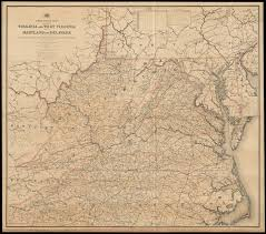 map of virginia and carolina post route map of the states of virginia and virginia