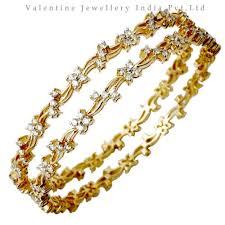 diamond studded designer diamond studded gold bangles at rs 233763