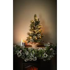 pre lit sparkling pinecone tree 2ft trees b m