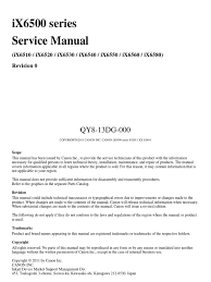 11287690 canon ix6560 service manual printer computing
