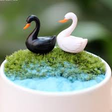 2017 artificial mini swan animals ornaments garden