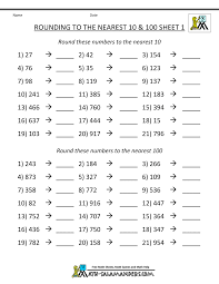 rounding to nearest hundred worksheet rounding numbers worksheets to the nearest 100