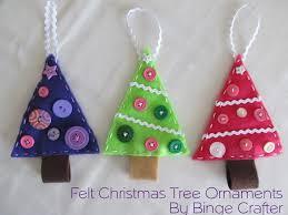 felt christmas trees tutorial binge crafter