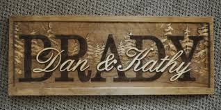 Personalized Wedding Plaque Personalized Wedding Gift Sign Plaque Custom Carved Wood Family