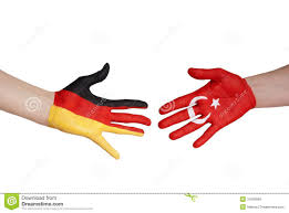 Germany Flag Colors Hands With German And Turkey Flag Stock Image Image 31826609