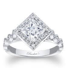 square style rings images Barkev 39 s halo prong set princess cut diamond engagement ring jpg