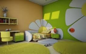 chambre enfant verte déco chambre vert et jaune exemples d aménagements