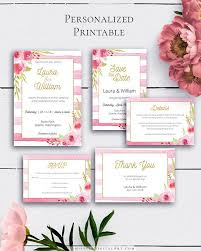 wedding invitations details card blush wedding invitation suite personalized watercolor floral