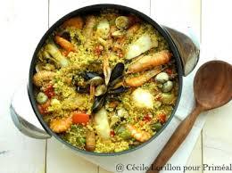 cuisiner une paella recette bio paella de quinoa bio au poisson bioaddict