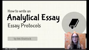 writing an analytical paper how to write an analytical essay essay protocols youtube how to write an analytical essay essay protocols