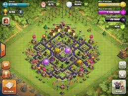 layout coc town hall level 7 town hall 7 farming bases clash of clans