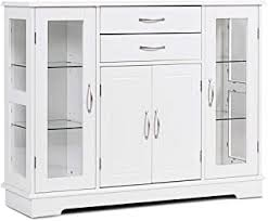 gremlin wheeled kitchen storage sideboard buffet cabinet white wood buffets sideboards glass buffets